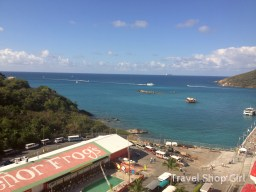 Looking out over Señor Frog's to the amazing waters of St. Thomas