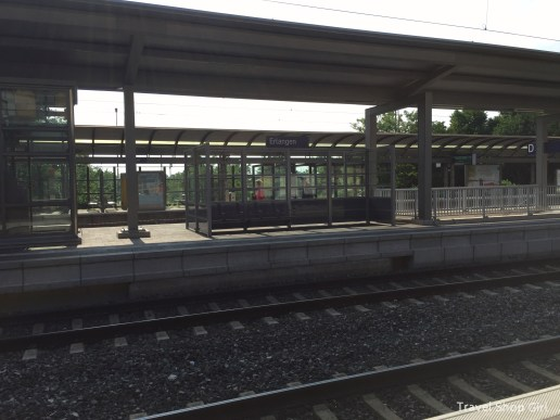 Train platform at Erlangen train station
