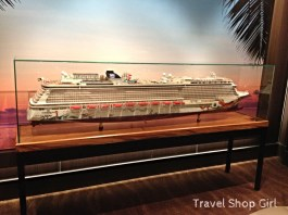 Close up of the Norwegian Getaway model