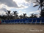 Lounge chairs on Great Stirrup Cay