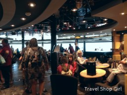 MSC Yacht Club Top Sail Lounge the morning of disembarkation