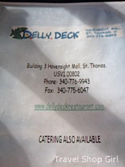 Delly Deck restaurant menu