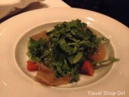 Roasted pumpkin, fennel, and arugula salad