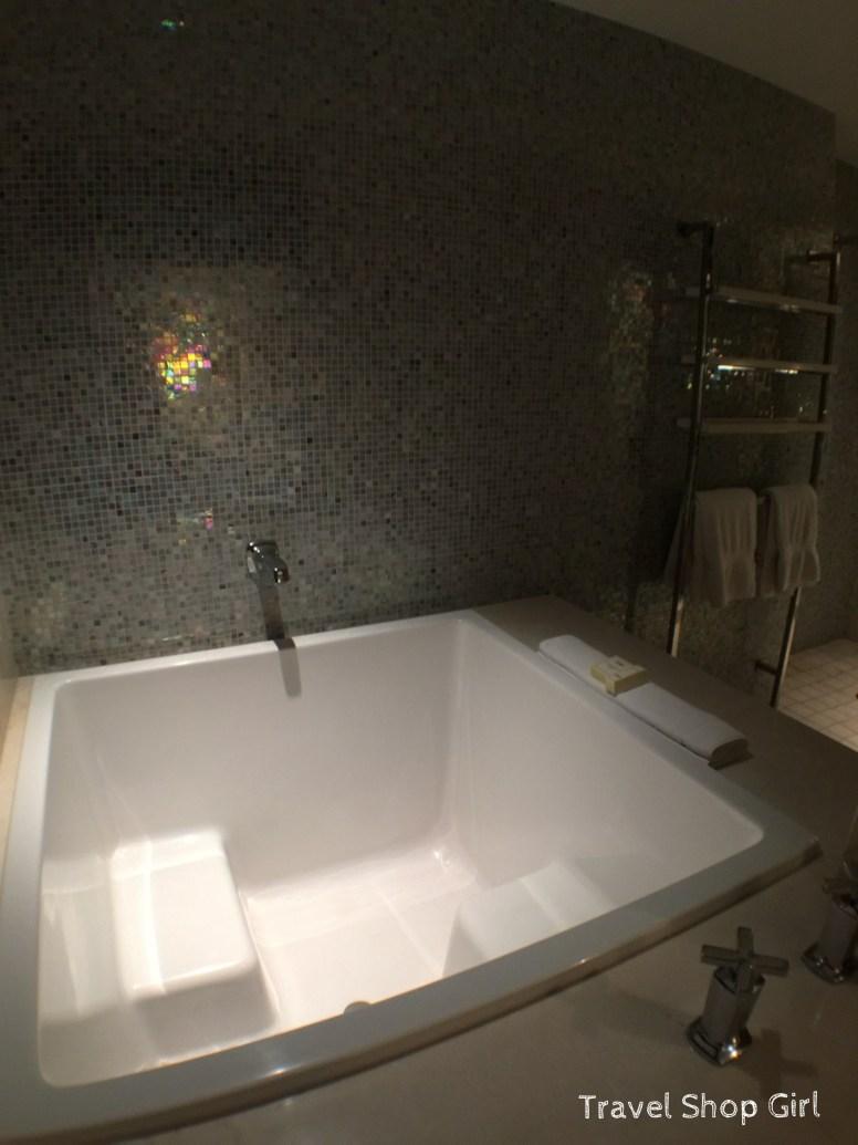 Japanese soaking tub inside Terrace One Bedroom