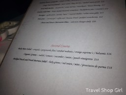 Old Stone Farmhouse menu