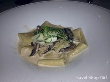 Fresh Papardelle: Wild mushrooms, shaved pecorino and white truffle cream