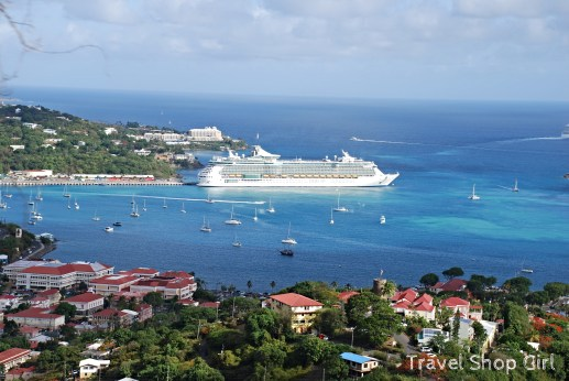 Freedom of the Seas docked in St. Thomas