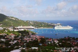 Freedom of the Seas and Disney Fantasy docked in St. Thomas
