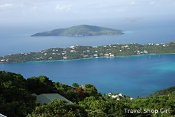 View from Mountain Top. I believe that is Hans Lollick (USVI)