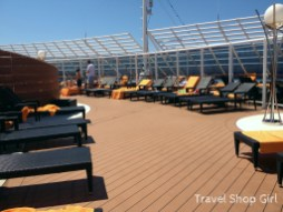 Sundeck area at The One Pool on deck 18 of the MSC Yacht Club