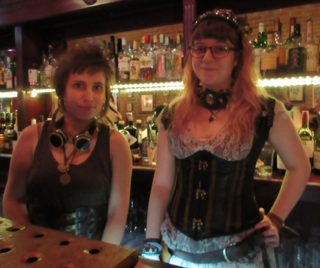 Steampunk style at The Yellow Book