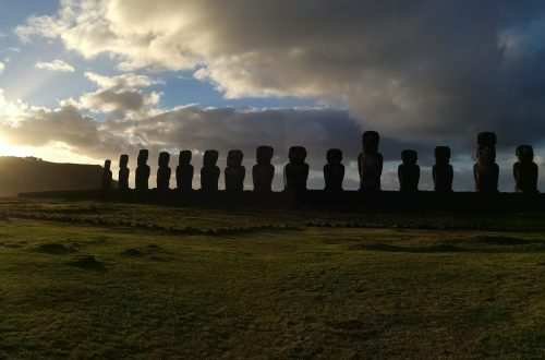 Tongariki Moai on Easter Island