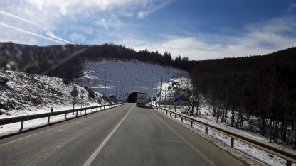 Tunnel through hillsides