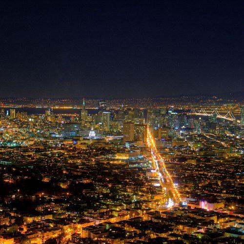 Twin Peaks By Night - San Francisco - California