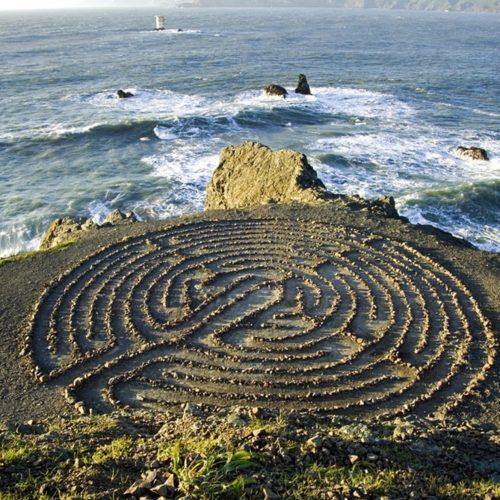 Land`s End Labyrinth - San Francisco - California - Golden Gate Bridge