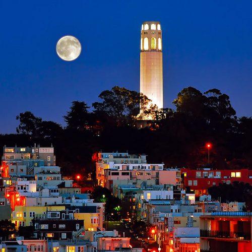 Coit Tower - Telegraph Hill - San Francisco - California