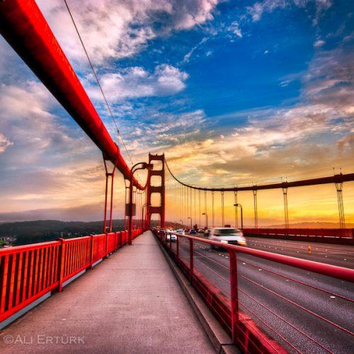 Golden Gate Bridge - San Francisco - sunset