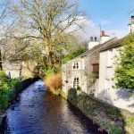 Where to stay in the lake district_cartmel_river_sunny