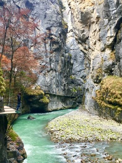 Gorges de l'aar en Suisse