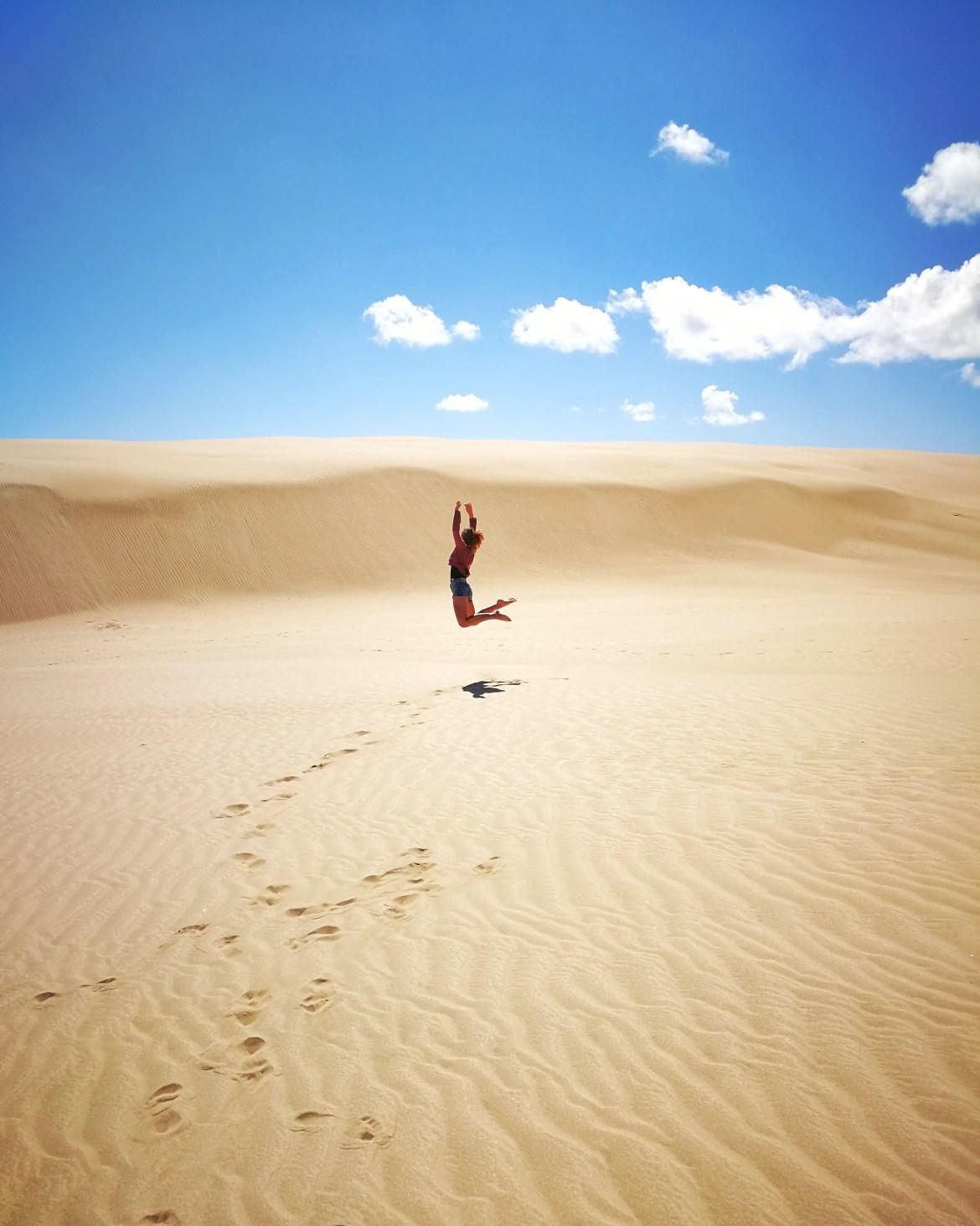 Te paki desert. Northland nouvelle-zélande