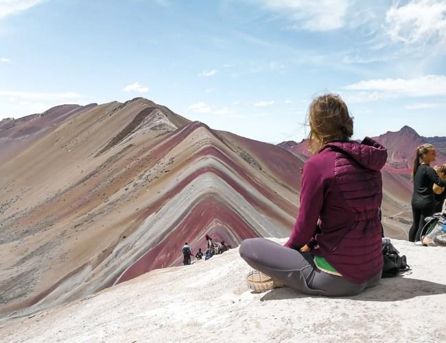 La plus jolie image de la montagne arc-en-ciel, la rainbow Mountain proche de Cusco au Pérou, comment visiter la montagne arc-en-ciel
