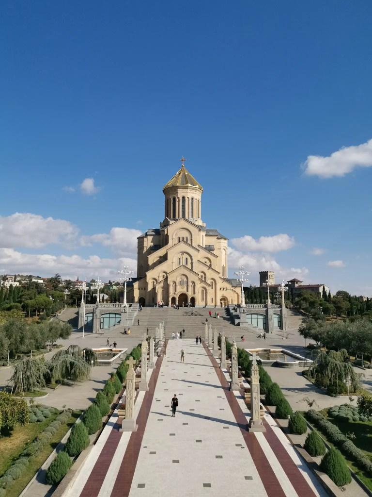 La holy trinity church de la ville qui se trouve à Tbilisi en Géorgie.