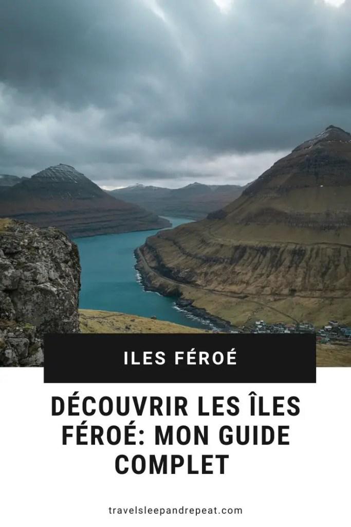 voici l'image qui est présente sur Pinterest pour mon article sur les îles Féroé