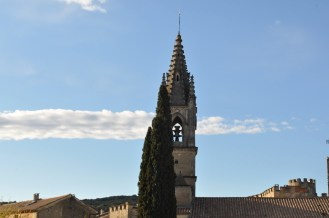 The church tower in Aiguéze