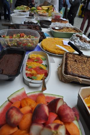 The dessert section of the potluck.