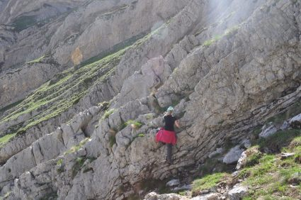 The hiking was sometimes a bit more like climbing...