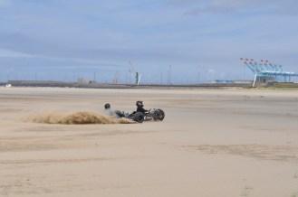 Zeebrugge, kite buggy, tandem