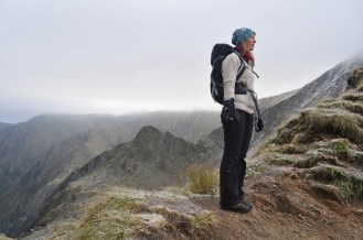 Ridge, Hiker, Fagaras