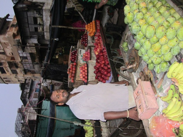 Fruit vendor in Varanasi