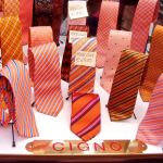 Window shopping in Florence: Silk ties