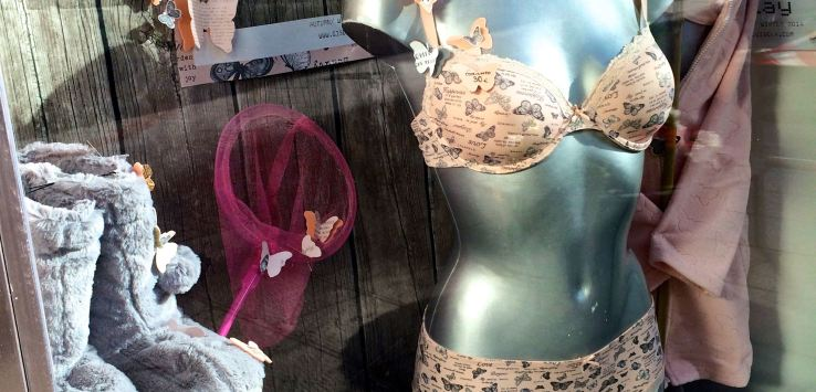Window shopping: Lingerie in Spain