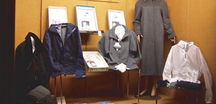 Window shopping: Nun's clothing, gray or navy