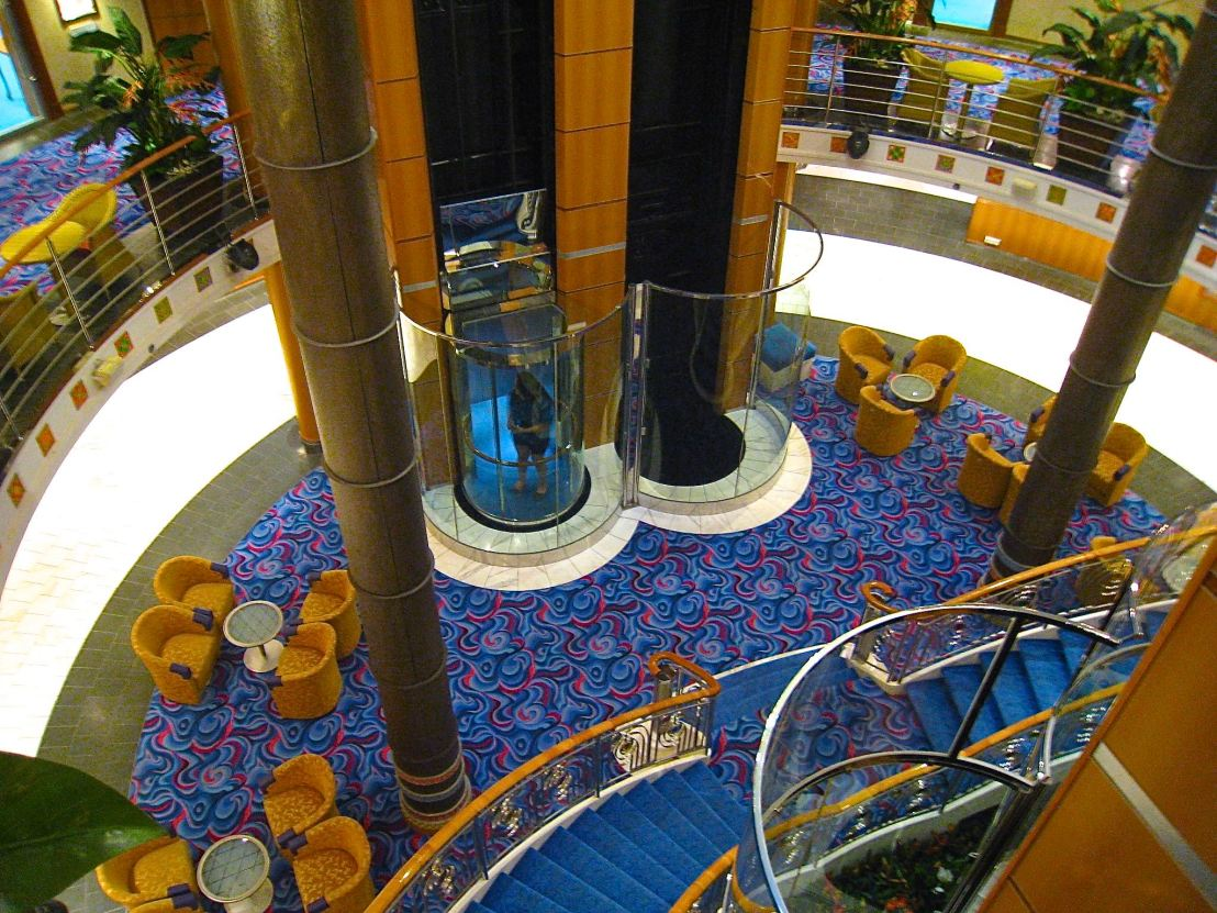 Main Area of a Cruise Ship