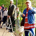 Street performers-London-Man yelling at Speakers' Corner