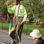 Street performers-London-Jamaica man at Speakers' Corner