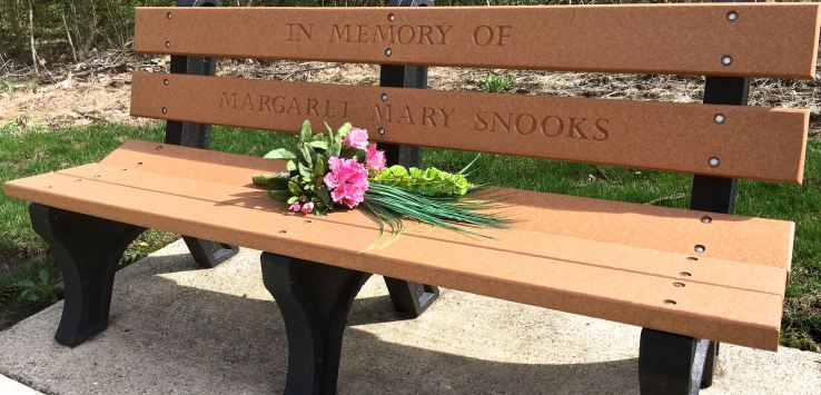 National Cemetery: Benches are dedicated to men and women who served