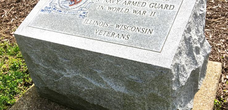 National Cemetery: Navy Armed Guard commemorative stone