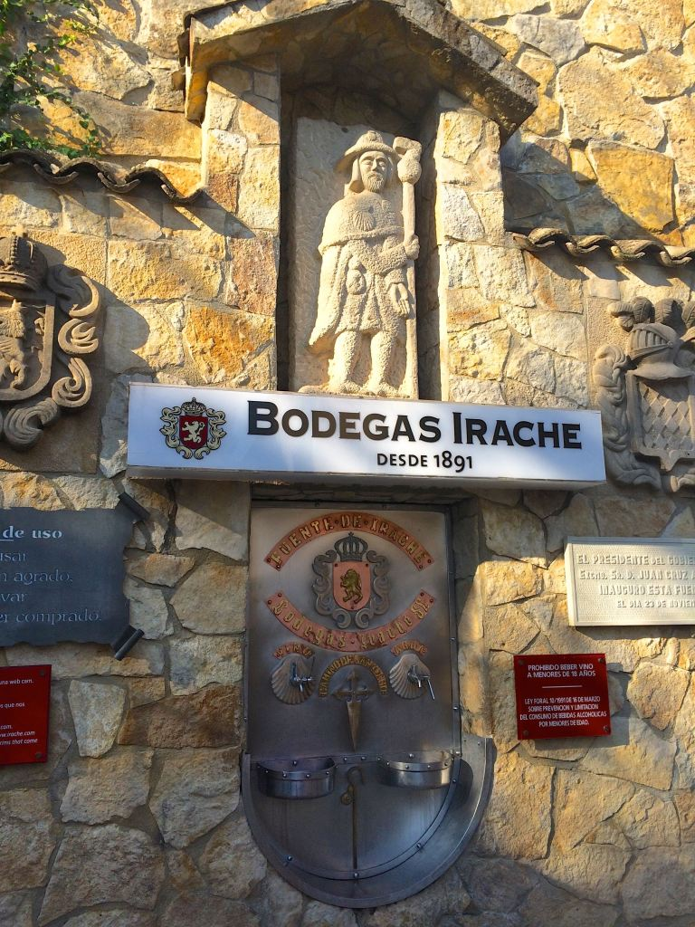 """Camino de Santiago: How I Started""...Part of the fun is researching the sites along the way, then actually finding them! Stop for a free cup of wine at this winery fountain! (Photo by Suzanne Ball. All rights reserved.)"