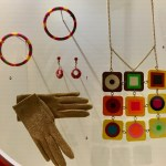 Montreal Expo '67: Bright colors went into accessories. Bangle bracelets and dangle earrings were popular.