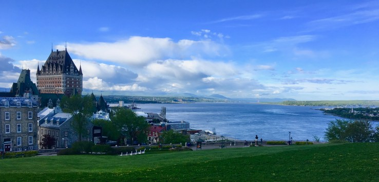 Quebec City: The mighty St. Lawrence River is the reason that Champlain chose this site for his city in 1608. (Photo by Suzanne Ball. All rights reserved.)