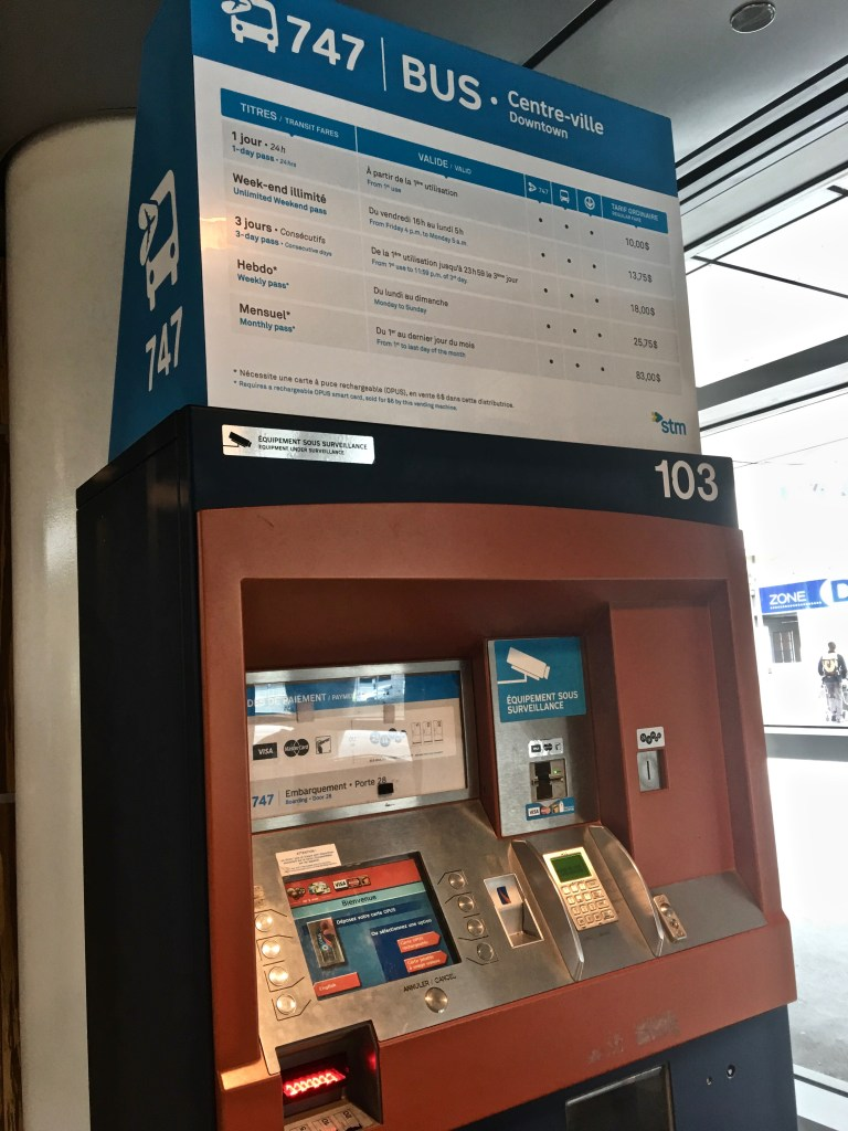 Metro Subway: Ticket machines are easy to use. There is often an English option. You can choose which pass to get, then insert cash or a credit card to pay. (Photo by Suzanne Ball. All rights reserved.)