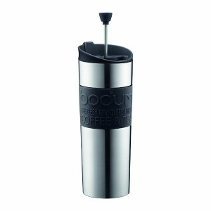 Budget travel gifts: Get this portable French press for the person who demands a perfect espresso when on the road. Bodum makes a nifty coffee and tea press.