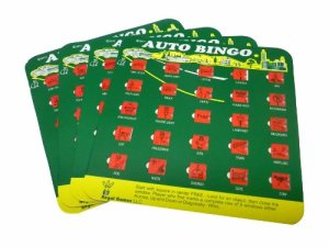 "Gifts for road trips: ""Backseat Bingo"" is a classic! No batteries required, and it encourages everyone to look out the window. That's the idea of a road trip, right?"