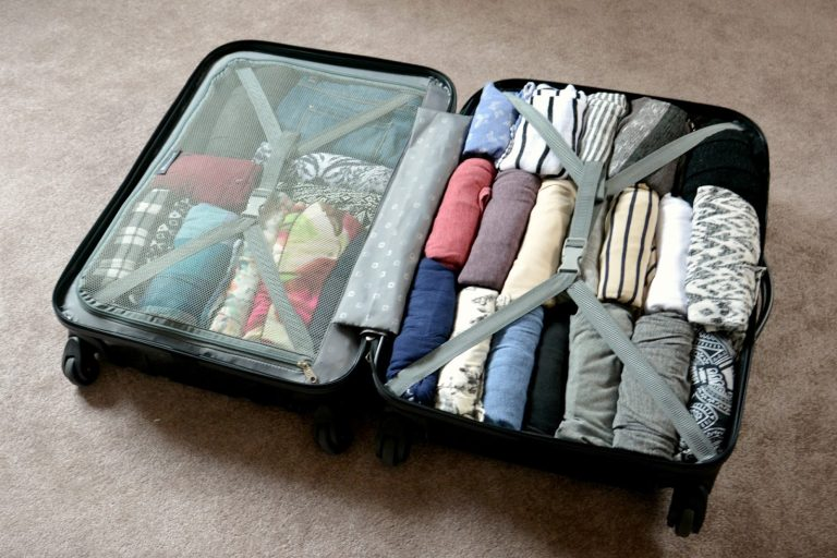 "Packing--fold or roll? A ""well-rolled"" suitcase is a work of art. Read the article about packing for London to learn more. (Photo Credit: London Connection)"