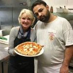 My first Naples pizza...and my patient instructor!