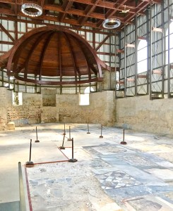 The Basilica has floors of marble, considered more prestigious by Romans.